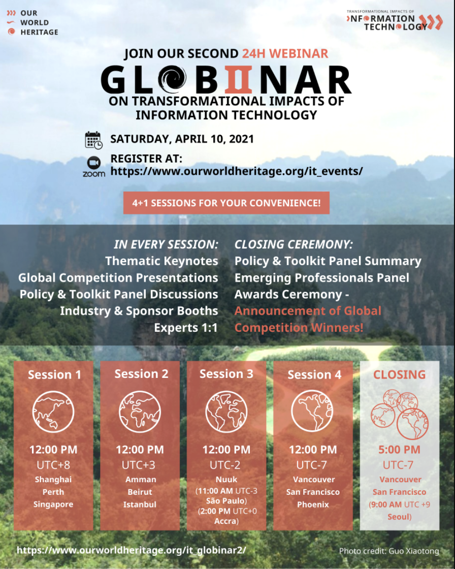 Globinar 2 program flyer