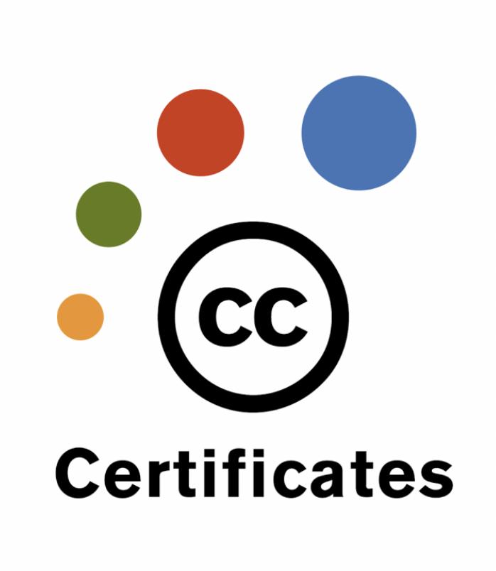 Creative Commons certificates logo