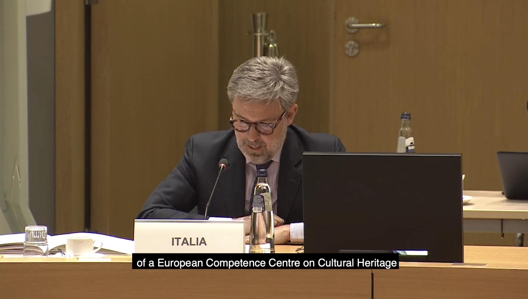Screen shot from EU Council of Culture 18-05-21