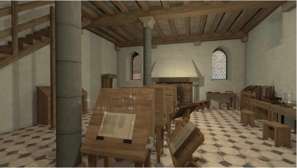 The scriptorium of the Ename Abbey in 1290