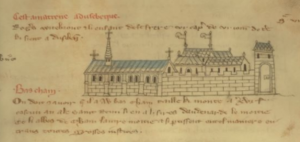 Ename Abbey as depicted in the Veil Rentier