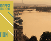 EAA logo with Budapest view